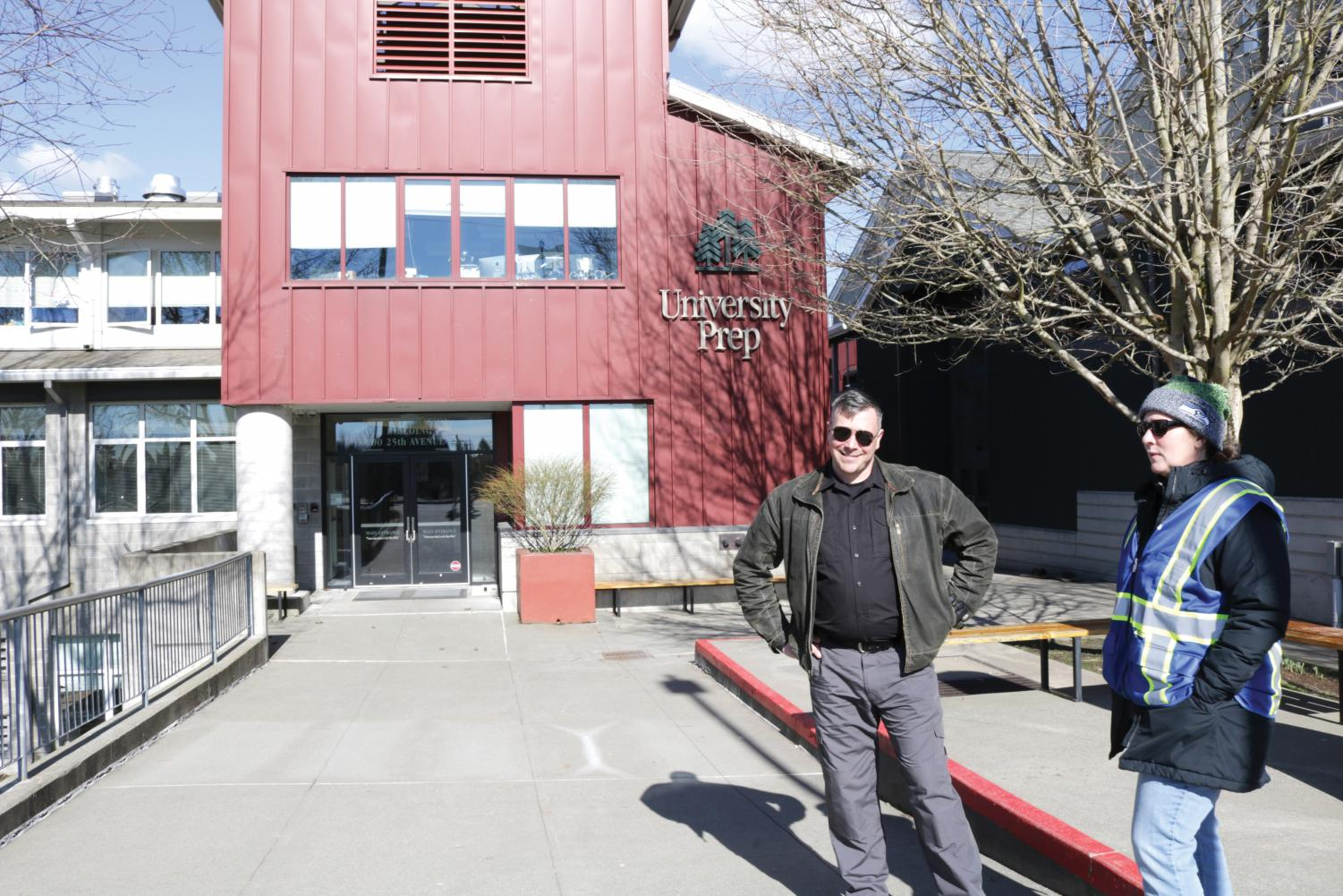 UPrep's new security guard works to asses possible risks and take steps to prevent any threats that may come to the school.