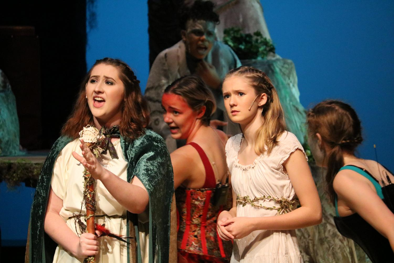 Senior Kedzie Moe performs as Queen Prospera in the Tempest.