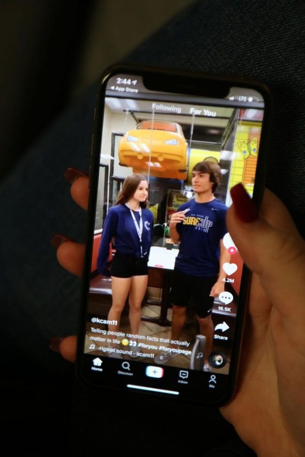 Senior Kedzie Moe's TikTok feed. Moe is one of many UPrep students to use the social media platform, TikTok. These countless hours scrolling create large amounts of data that some fear could be used dangerously.