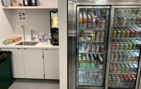 The drinks section of the newly renovated commons was a really popular spot during school.