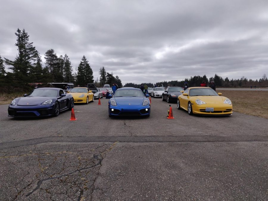 Cars+lined+up+to+drive+at+the+autocross+event+held+by+the+Porsche+Club+of+America.+Porsche+Club+Autocross+events+draw+a+wide+range+of+cars%2C+from+a+family+commuter+car%2C+to+a+vehicle+able+to+set+track+records+across+the+world.