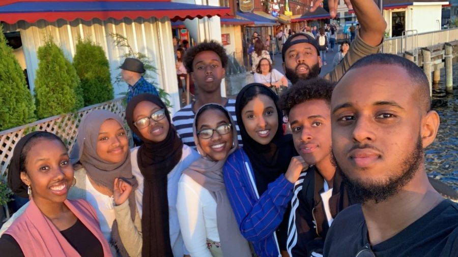 Junior Jamila Abdilahi and her sister Sophomore Juweriya Ab- dilahi celebrating Eid (before COVID-19) with their extended family. Eid is the holiday celebrated that marks the end of Ramadan.
