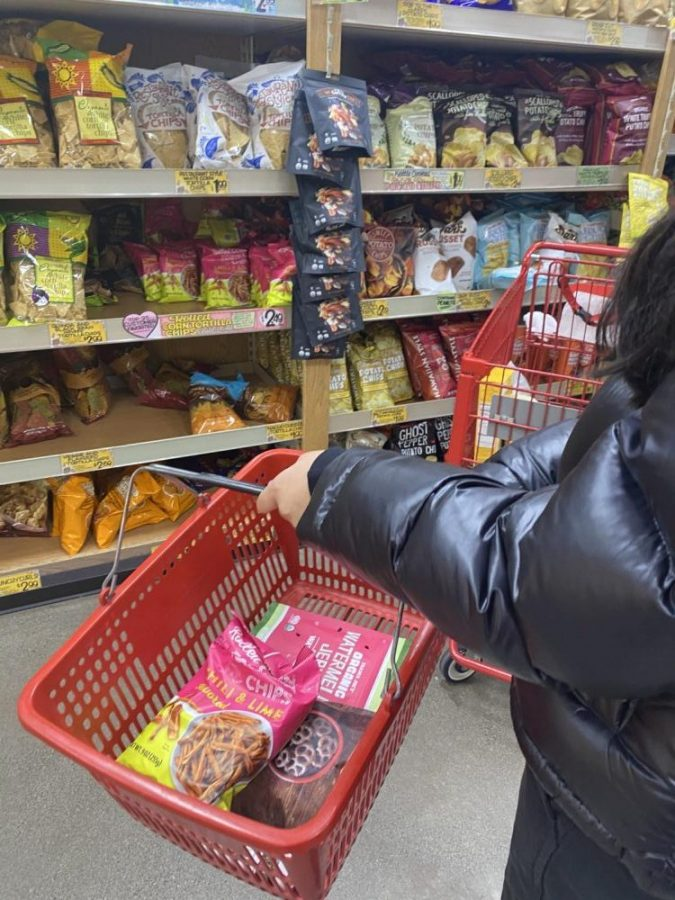 Here+I+am+at+Trader+Joe%E2%80%99s+in+the+snacks+aisle.+I+am+deciding+which+chips+to+purchase+and+review%2C+given+all+the+options.