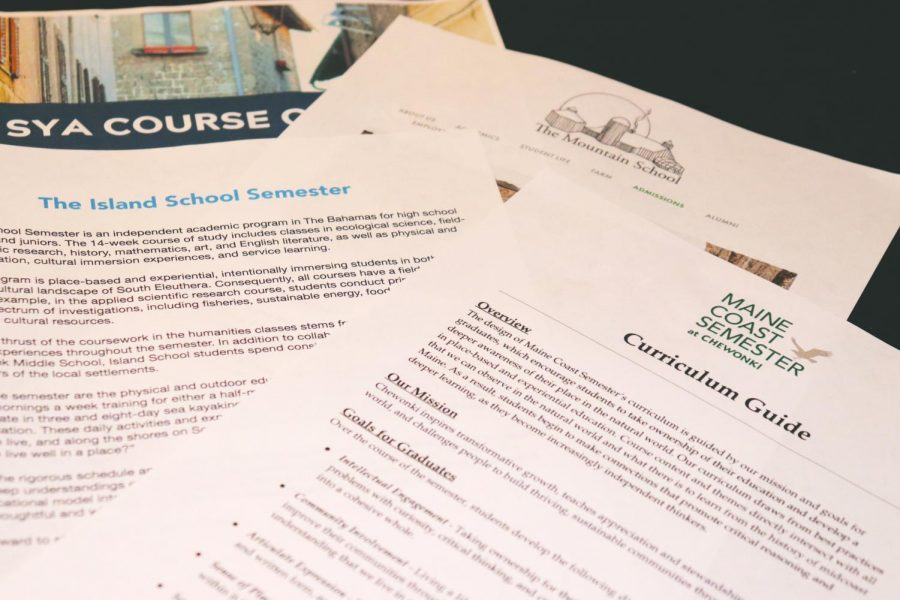 Different course options and curriculum guides help students and families choose semester away programs.