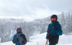 """Senior Jude Roach (left) traveled with his brother, sophomore Taulby Roach (right) to Mt. Bachelor in Oregon over mid-winter break. """"We couldn't do everything we wanted to but it was still a good time,"""" Roach said. He plans to join the ultimate team mid-season after his two-week quarantine period."""
