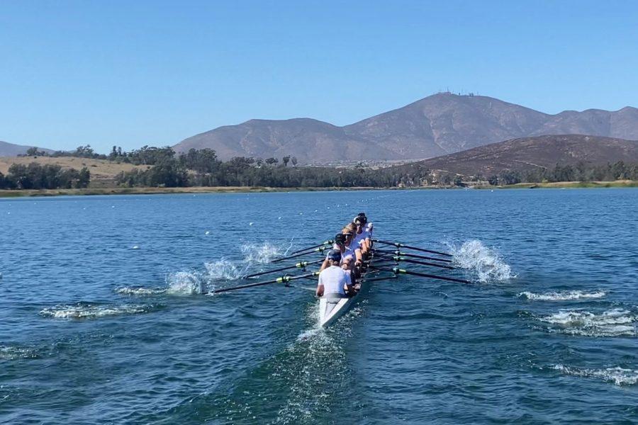 Senior Jordan Dykema and his teammates training for the 2021 World Rowing Junior Championships.